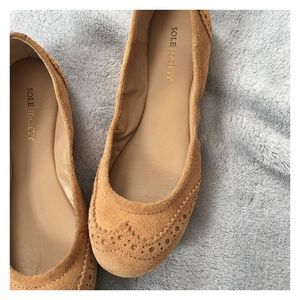 Sole Society Leather Flats